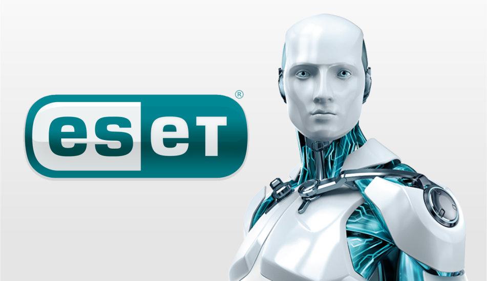eset logo a robot