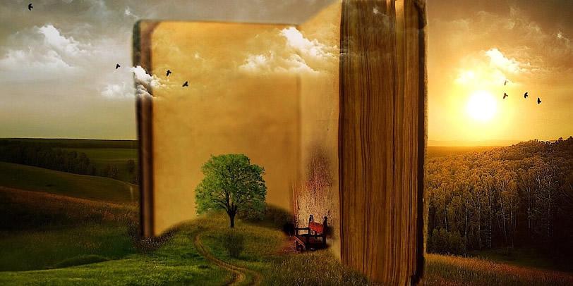 Otvorená kniha so stoličkou