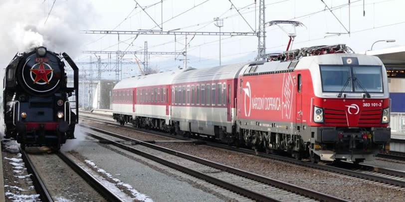 železnica s dvoma lokomotívami