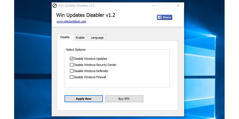 Windows Update Disabler