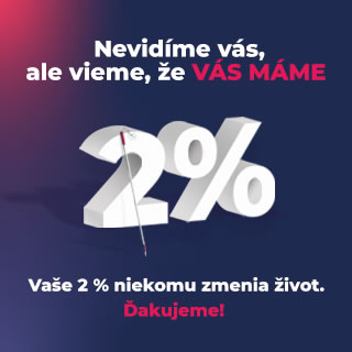 2 percentá ÚNSS - Nevidíme vás, ale vieme, že vás máme