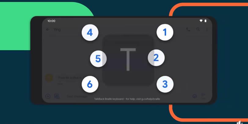 Braillovská klávesnica TalkBack