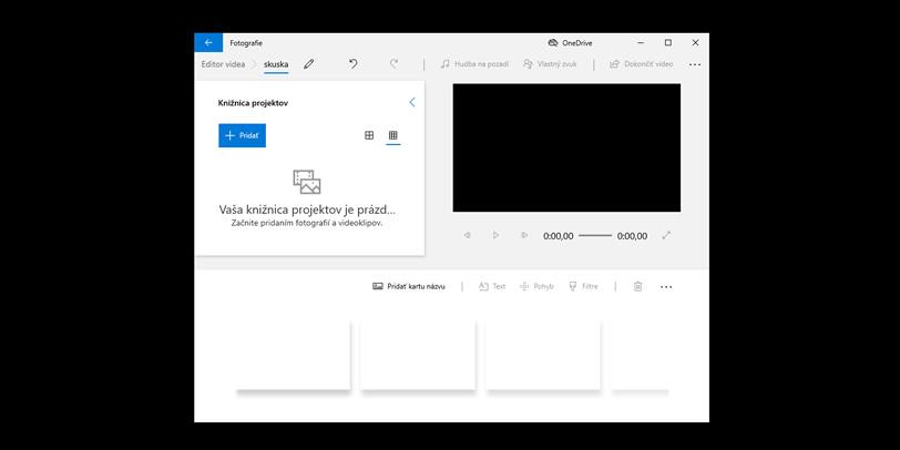 Editor videa vo Windows 10