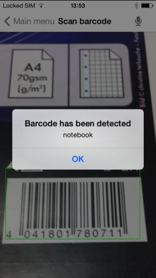 Snímka obrazovky aplikácie Seeing Assistant Home v mobilnom telefóne