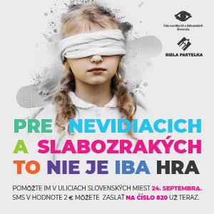 banner Biela pastelka 2021 - Pre nevidiacich a slabozrakých to nie je iba hra